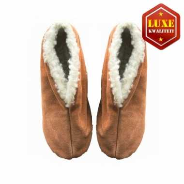 Beige suede Spaanse pantoffels heren maat 45