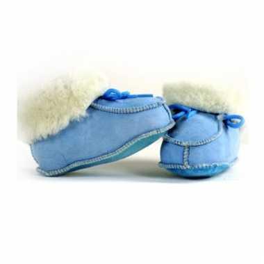 Blauwe baby pantoffels