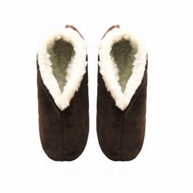Bruine suede Spaanse pantoffels heren maat 43