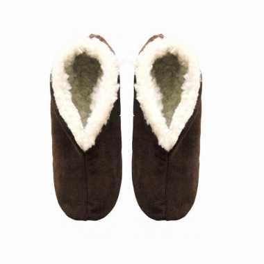 Bruine suede Spaanse pantoffels heren maat 44