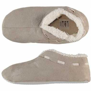 Dames spaanse pantoffels/pantoffels beige