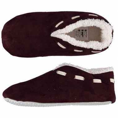 Dames spaanse pantoffels/pantoffels bordeaux rood