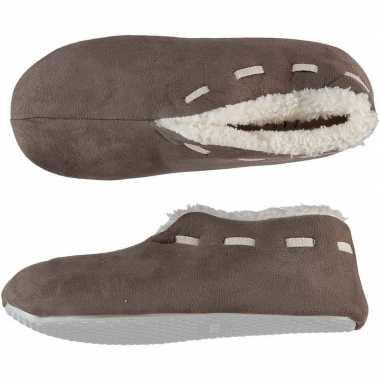 Dames spaanse pantoffels/pantoffels bruin