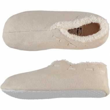 Dames spaanse pantoffels/pantoffels creme wit