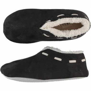 Dames spaanse pantoffels/pantoffels donkergrijs