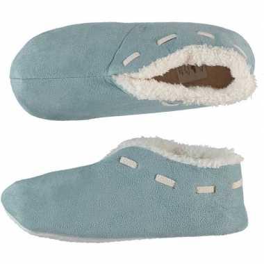 Dames spaanse pantoffels/pantoffels licht blauw