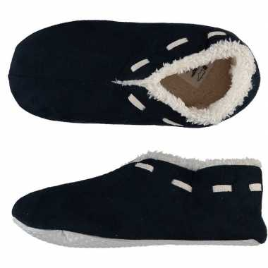 Dames spaanse pantoffels/pantoffels navy