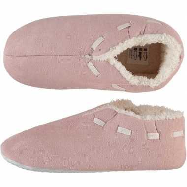 Dames spaanse pantoffels/pantoffels oud roze