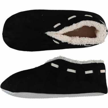 Dames spaanse pantoffels/pantoffels zwart