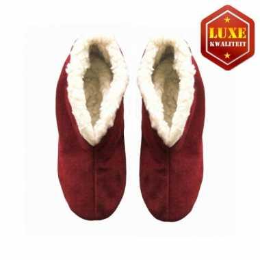 Rode suede Spaanse pantoffels dames maat 38