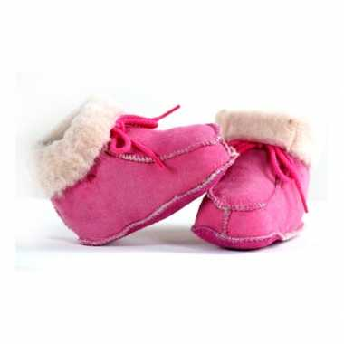 Roze baby pantoffels