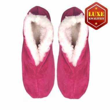 Roze suede Spaanse pantoffels dames maat 37