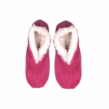 Roze suede spaanse pantoffels dames maat 38