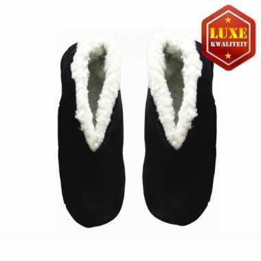 Zwarte suede spaanse pantoffels heren maat 45